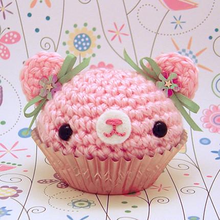 Amigurumi Pink spring cupcake bear Flickr - Photo Sharing!