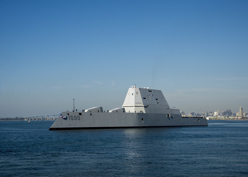 Navy's Most Advanced Warship, USS Zumwalt, Arrives in Pacific Homeport