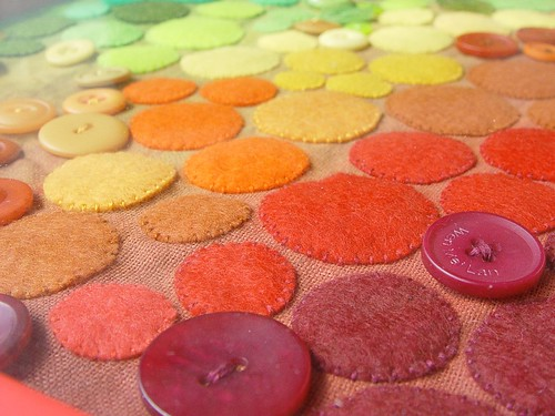 drought relieft - felt art closeup