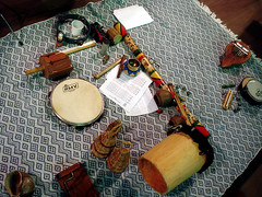 art, textile, musical instrument,