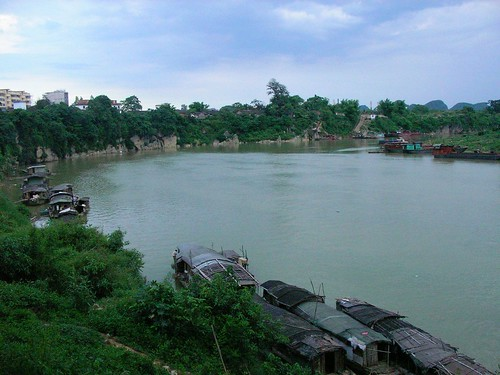 early evening at longjiang river