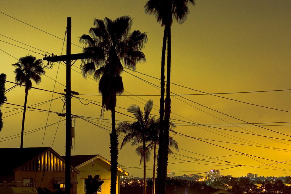 San Diego Night Scene | Light Pollution + Low Clouds = Nice
