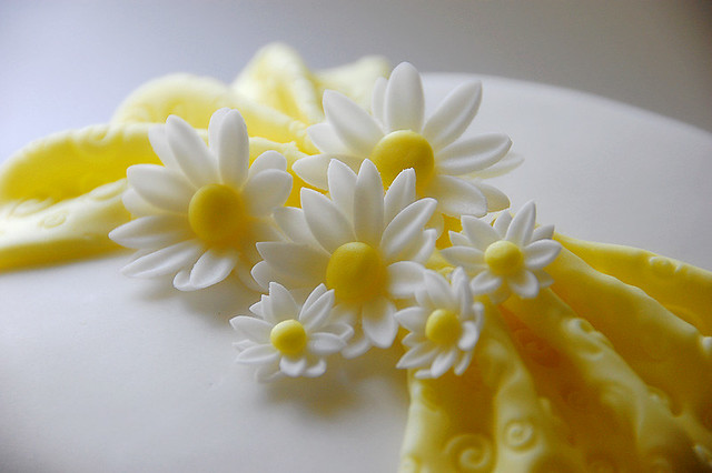 Cake Decorating How To Make Daisies : Fondant Daisy Cake Flickr - Photo Sharing!