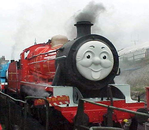 James the red engine face