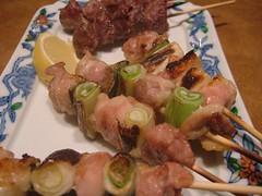 prosciutto(0.0), brochette(1.0), meat(1.0), food(1.0), dish(1.0), shashlik(1.0), kebab(1.0), cuisine(1.0), skewer(1.0), grilled food(1.0),