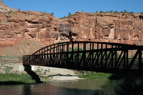 Bridgeport Footbridge, Gunnison River, Colorado