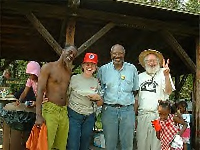 Abayomi Azikiwe, Second From Right at Belle Isle Peace Festival, July 1, 2006 by panafnewswire