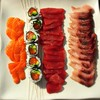 Sushi :) #homechef #sashimi #sushi #rawfish #foodart #foodphotography #delish #colourful