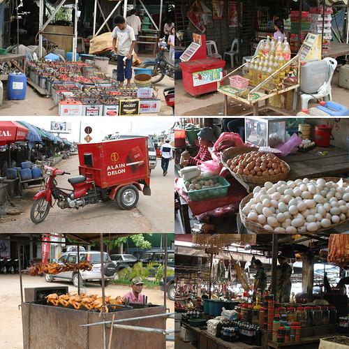 a market near Siem Reap town