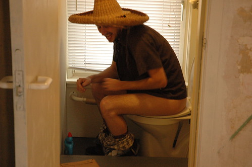 gonzalez on the toilet