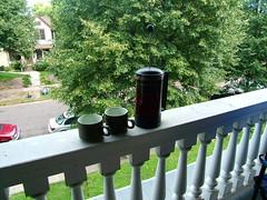 A nice relaxing morning coffee break.