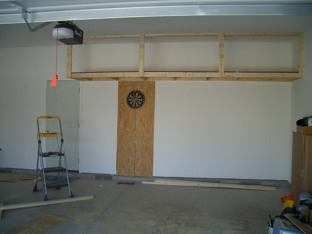 Garage storage loft 20050507 flickr photo sharing for How to build a garage loft