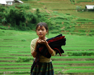 Hmong child hawker, Sapa, Vietnam