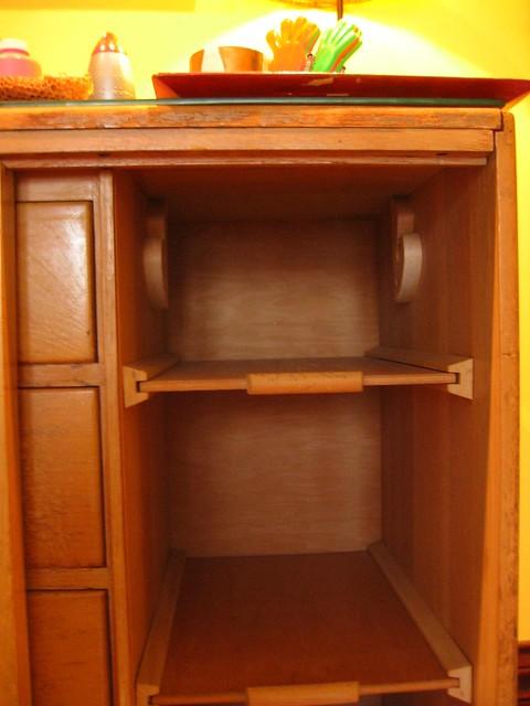 wood cabinet inside hanger shelves flickr photo sharing. Black Bedroom Furniture Sets. Home Design Ideas