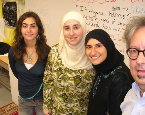 Nadine, Dana, Fatima, Robert at CMHS by trudeau
