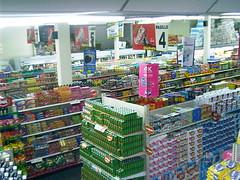 medical(0.0), aisle(0.0), prescription drug(0.0), supermarket(1.0), convenience store(1.0), building(1.0), grocery store(1.0), retail-store(1.0),