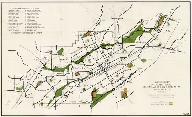 Olmsted Bros - Bham Park Plan (1925) | Flickr - Photo Sharing!