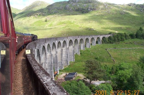 Crossing the Glenfinnan Viaduct