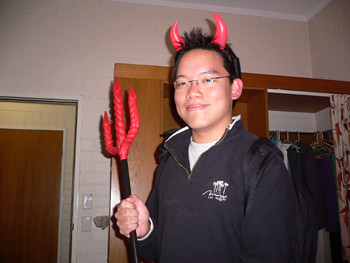My Devil Outfit. Halloween 2005