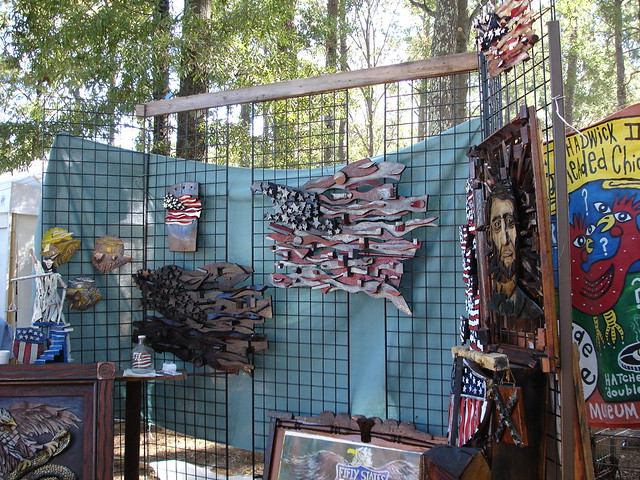 Ab the Flagman's Art at Kentuck Festival of the Arts, Northport AL