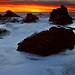 Sunset on Pebble Beach #2 by Misha Logvinov
