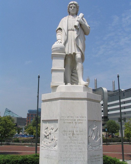 Christopher Columbus Statue, Baltimore from Flickr via Wylio