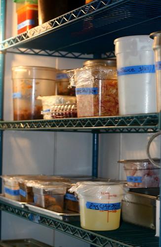inside the walk-in refrigerator