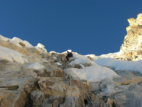 nepal sunset snow mountains expedition climbing himalaya khumbu amadablam