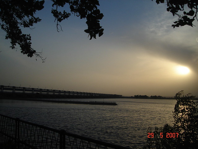 Golden Evening in Jamshoro over Indus.
