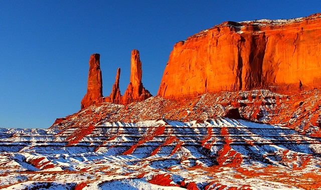 Monument Valley in the Snow II