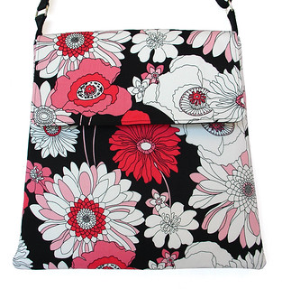Sling Bag-Great Big Retro Flowers