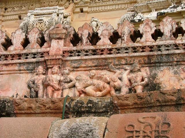 Kamasutra in sculptures  Group of Monuments at Hampi, Karnataka