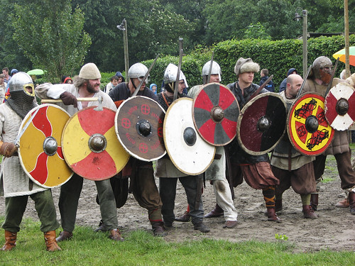 Viking warriors ready for the fight