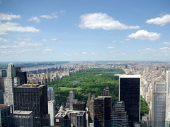 Rockefeller Center - view towards Central Park from the Top of the Rock viewing area