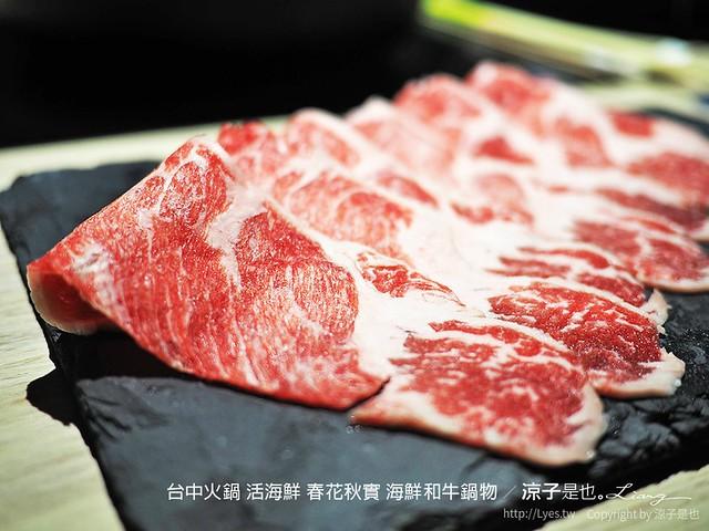 台中火鍋 活海鮮 春花秋實 海鮮和牛鍋物 61