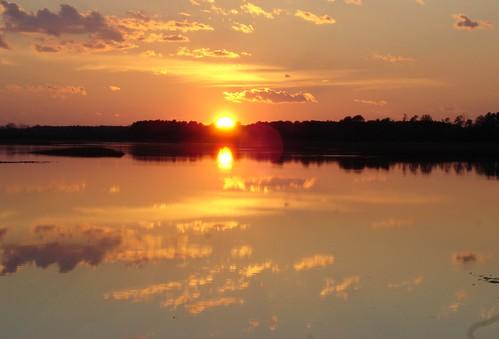 sunset rural creek seaside easternshore marsh quinby