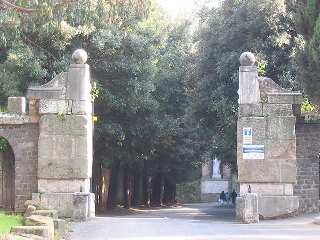Main gate of the Abbazia Tre Fontane