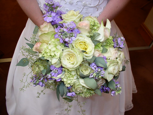 Green and Lavender Bouquet