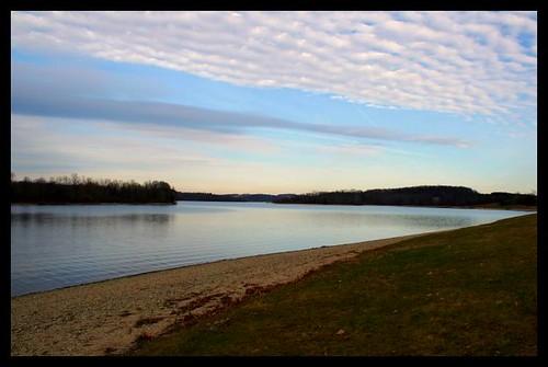 blue sky lake water grass clouds sand pennsylvania shore 10millionphotos cadorusstatepark