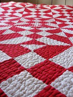 Red & White Quilt Detail