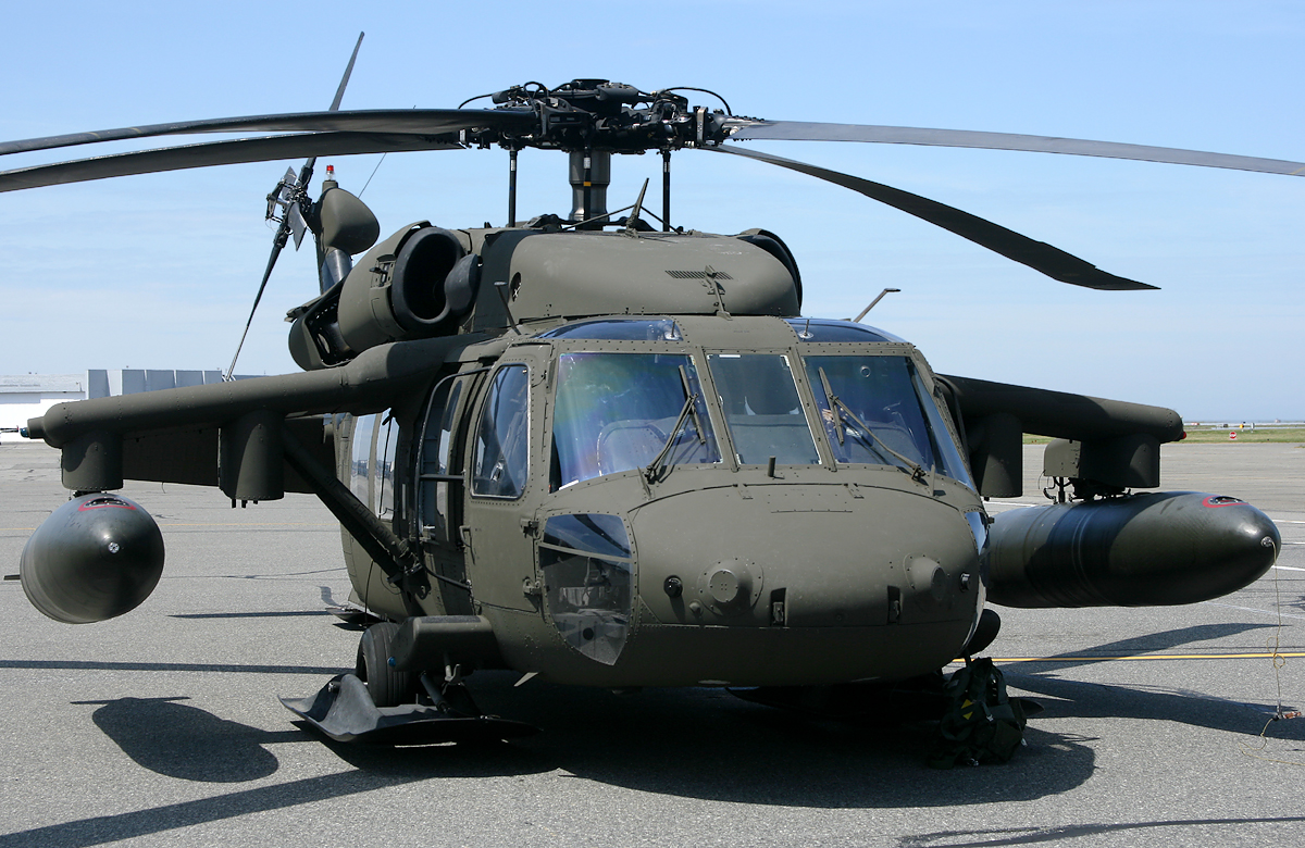 A front ground view of the UH-60 Black Hawk (Blackhawk