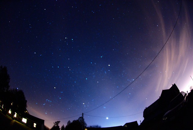 Photo:Winter Constellations and Zodiacal light By:Computer Science Geek