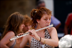 Flute payer in Sarlat
