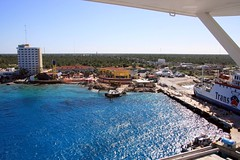 Arriving in Cozumel, Mexico
