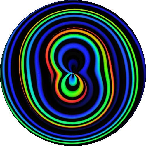 Blue green spiral