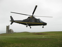 Lundy 2008: Arrival by helicopter