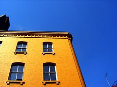 Yellow Building Blue Sky