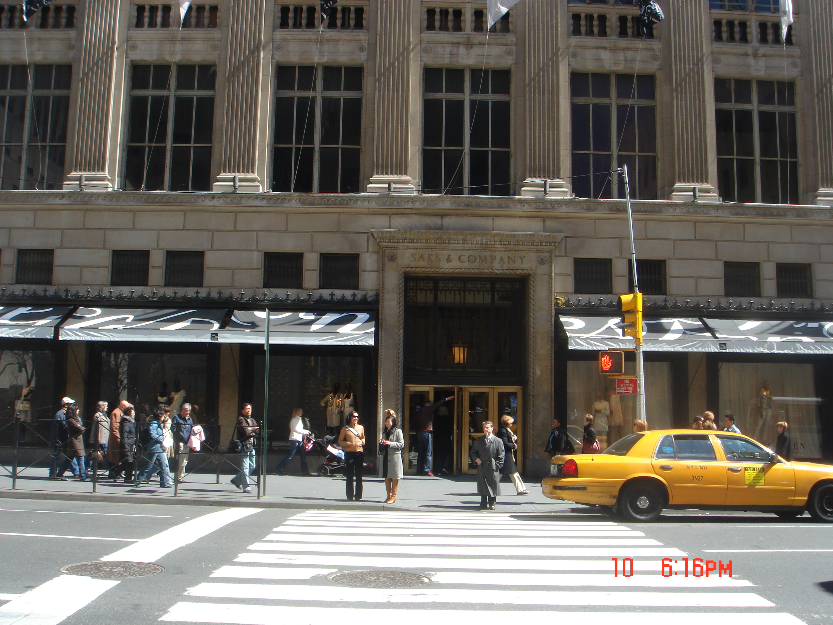 Saks Fifth Avenue is an American chain of luxury department stores owned by the oldest commercial corporation in North America, the Hudson's Bay Company. Its main flagship store is located on Fifth Avenue in Midtown Manhattan, New York City.