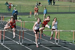 middle-distance running(0.0), sprint(0.0), physical exercise(0.0), athletics(1.0), track and field athletics(1.0), 110 metres hurdles(1.0), championship(1.0), obstacle race(1.0), 100 metres hurdles(1.0), sports(1.0), running(1.0), hurdle(1.0), hurdling(1.0), athlete(1.0), team(1.0),