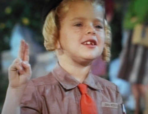 """TV Show Family Affair Buffy takes the oath to become a Brownie Scout in 1967 episode """"The Candy Striper"""""""